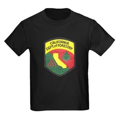 California Forestry Kids Dark T-Shirt