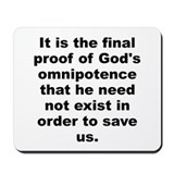 Peter de vries quotation Mousepad