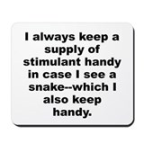 Funny W c fields quote Mousepad