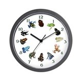Frog Diversity Wall Clock