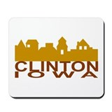 Clinton Iowa skyline Mousepad