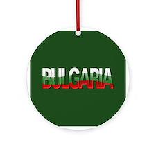 """""""Bulgaria Bubble Letters"""" Ornament (Round)"""