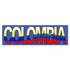 """Colombia Bubble Letters"" Bumper Bumper Sticker"