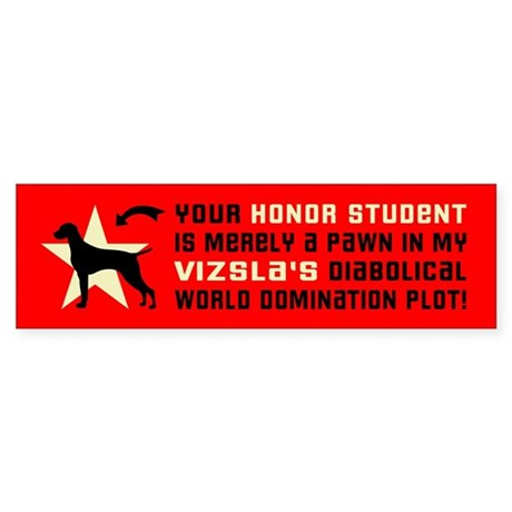 Vizsla honor student pawn Bumper Sticker