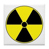 Radiation Symbol (yellow) Tile Coaster