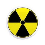 "Radiation Symbol (yellow) 3.5"" Button"