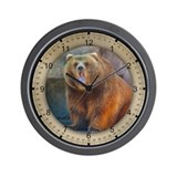 PhotoArt Brown Bear Wall Clock