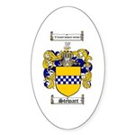 Stewart Coat of Arms Oval Sticker