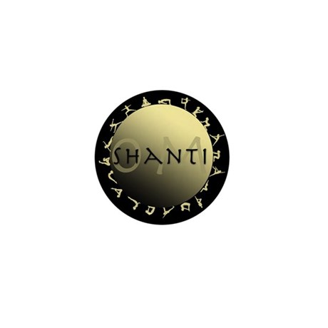Om Shanti Mini Button (10 pack)