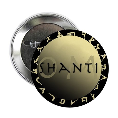 "Om Shanti 2.25"" Button (10 pack)"