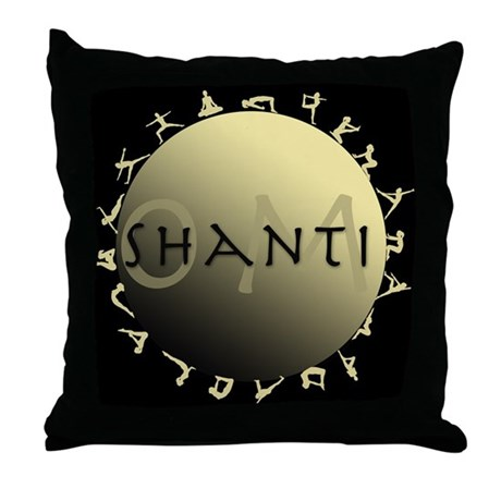 Om Shanti Throw Pillow