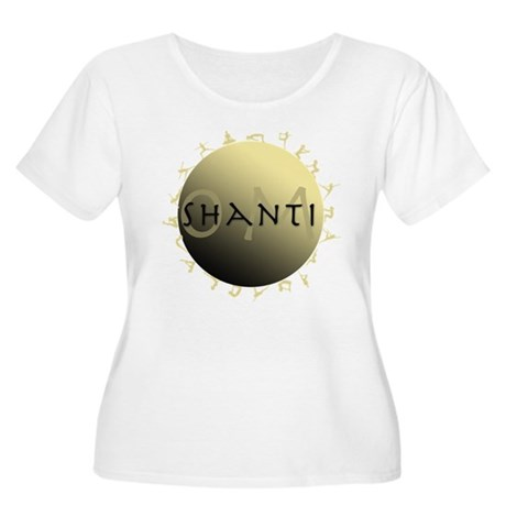Om Shanti Women's Plus Size Scoop Neck T-Shirt