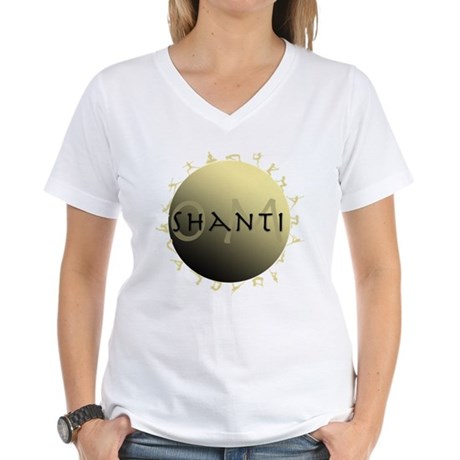 Om Shanti Women's V-Neck T-Shirt