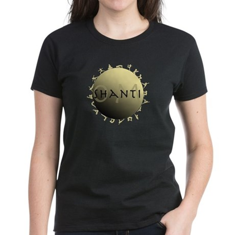 Om Shanti Women's Dark T-Shirt