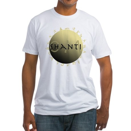 Om Shanti Fitted T-Shirt