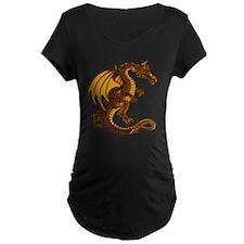 Gold Dragon Maternity Tee (Dark)