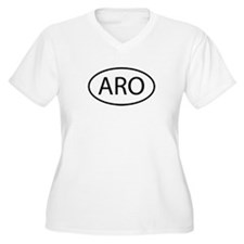 ARO Womes Plus-Size V-Neck T-Shirt