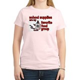 School supplies are my favori Women's Pink T-Shirt