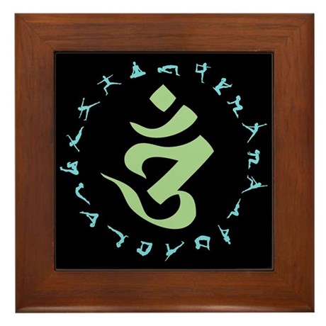 Om Symbol Framed Tile