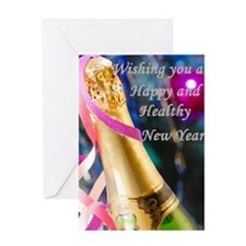 New Years Cards Greeting Card