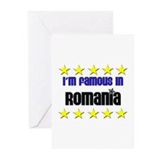 I'm Famous in Romania Greeting Cards (Pk of 10)