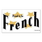 French Rectangle Sticker