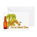 I'm On Island Time Greeting Card