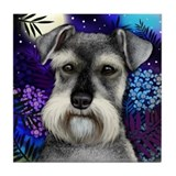 SCHNAUZER DOG MOON Tile Coaster