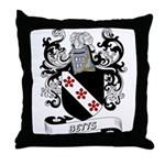 Betts Coat of Arms Throw Pillow