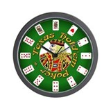 Texas Hold'em King Wall Clock