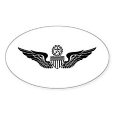 Master Aviator Oval Decal