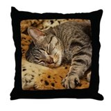 Sleeping Bud Throw Pillow