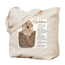 Golden Retriever Meaning Tote Bag