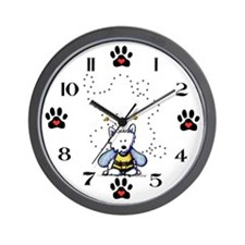 Buzzy Bee Westie Wall Clock