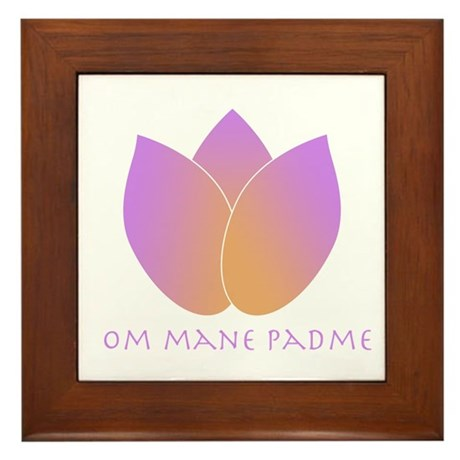 Lotus Framed Tile