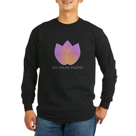 Lotus Long Sleeve Dark T-Shirt