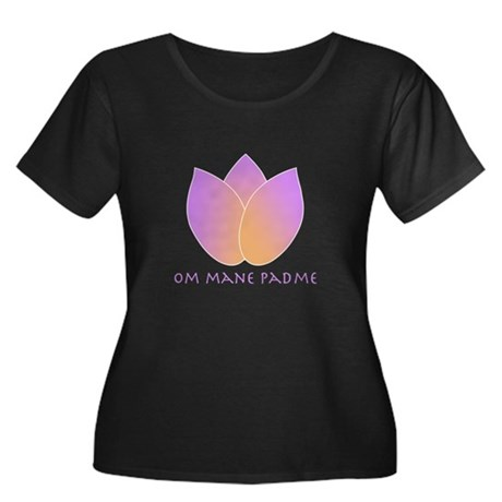 Lotus Women's Plus Size Scoop Neck Dark T-Shirt