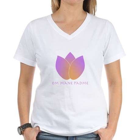 Lotus Women's V-Neck T-Shirt