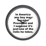 Funny Adlai e stevenson jr quotation Wall Clock