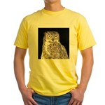 Great Horned Owl Yellow T-Shirt