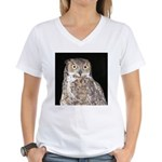 Great Horned Owl Women's V-Neck T-Shirt