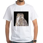Great Horned Owl White T-Shirt