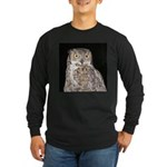 Great Horned Owl Long Sleeve Dark T-Shirt