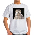 Great Horned Owl Light T-Shirt