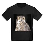 Great Horned Owl Kids Dark T-Shirt