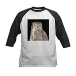 Great Horned Owl Kids Baseball Jersey