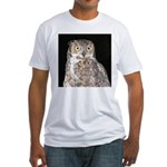 Great Horned Owl Fitted T-Shirt