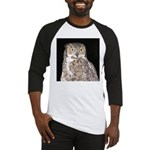 Great Horned Owl Baseball Jersey