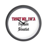 Trust Me I'm a Forensic Scientist Wall Clock