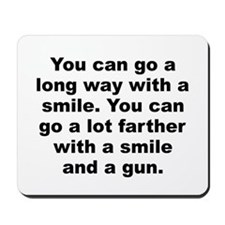 Capone quote Mousepad